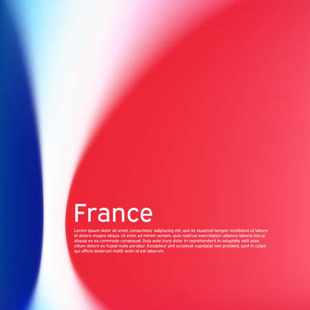 France flag background. Blurred patterns in the colors of the french flag. National poster, banner france. State patriotic poster, flyer, business booklet. Vector tricolor design 일러스트