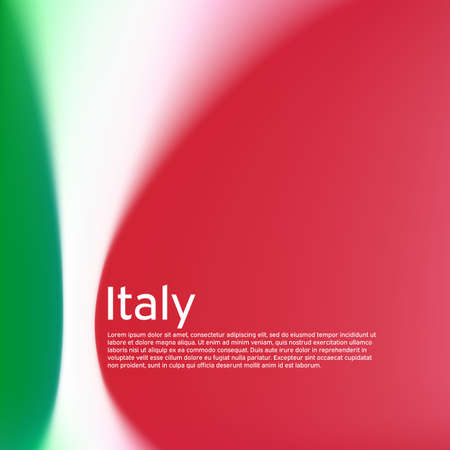 Italy flag background. Blurred patterns in the colors of the italian flag. National poster, banner of italy. State patriotic poster, business booklet, flyer. Vector tricolor design