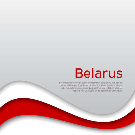 Abstract waving new flag of belarus. Иллюстрация