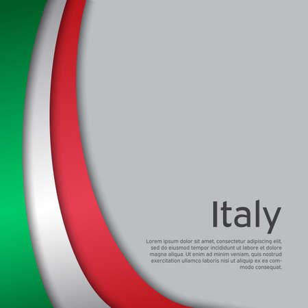 Abstract waving italy flag. Creative background in Italy flag colors for holiday card design. National Poster. State Italian patriotic cover, business booklet, flyer. Paper cut. Vector design Foto de archivo - 155038206