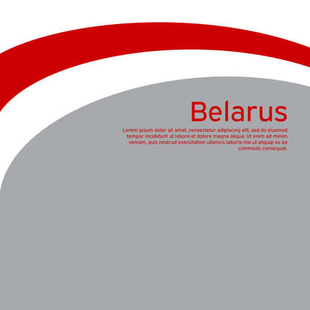 Abstract waving new flag of belarus. Protest actions. Creative background for design of the patriotic banner of Belarus. National Belarusian state business booklet, poster. Flat style, vector Foto de archivo - 155038208