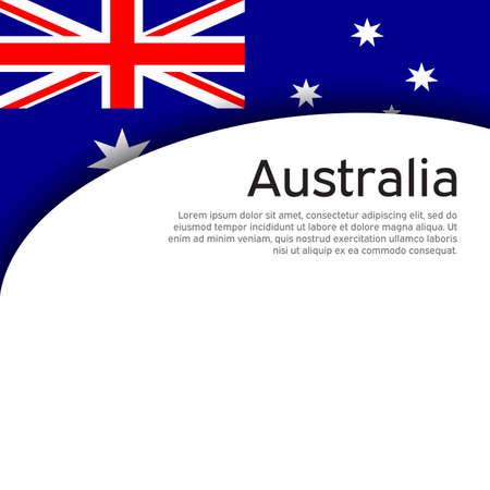 Australia flag on a white background. National poster design. Business booklet. State australian patriotic banner, flyer. Background with australia flag. Paper cut style. Vector illustration Foto de archivo - 155038209