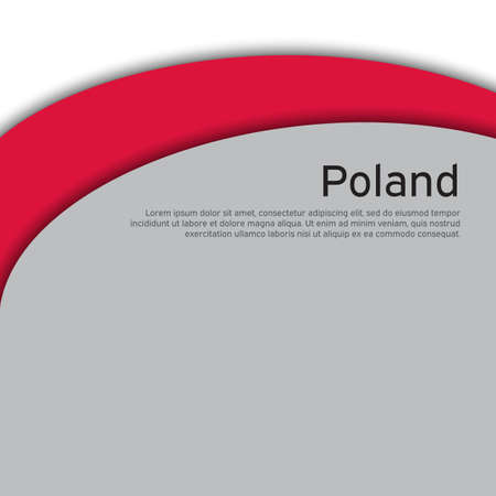Cover, banner in national colors of Poland. Abstract waving poland flag. Paper cut style. Patriotic cover, business booklet, flyer. National polish poster. Vector design Vectores