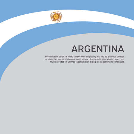 Abstract waving flag of argentina. Creative background for Argentina patriotic holiday card design. Flat style. National Poster. Argentinean state patriotic cover, flyer. Vector design Foto de archivo - 155038236