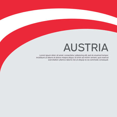 Abstract waving flag of austria. Creative background for the design of the patriotic holiday card of Austria. National Poster. Paper cut style. Austrian business booklet, flyer. Vector design