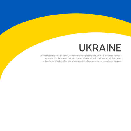 Abstract waving flag of ukraine. Creative background for patriotic holiday card design. National Poster. Cover, banner in state colors of Ukraine. Vector design Foto de archivo - 155285053