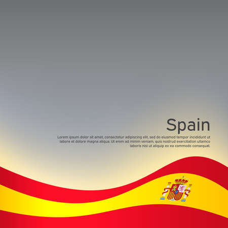 Abstract waving spain flag. Creative background for spain patriotic holiday card design. National Poster. Spanish state patriotic cover, flyer. Vector design
