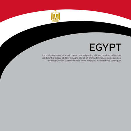 Abstract waving egypt flag. Creative background for egypt patriotic holiday card design.