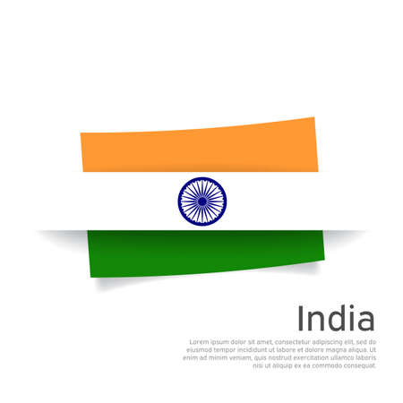 India flag in paper cut style. Creative background for patriotic holiday card design. National Poster. State Indian patriotic cover, flyer. Vector tricolor design
