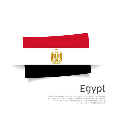 Egypt flag in paper cut style. Creative background for egypt patriotic holiday card design. National poster. State Patriotic egyptian Cover, Flyer. Vector design