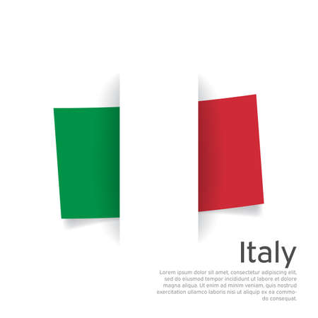 Italy flag in paper cut style. Creative background in Italy flag colors for holiday card design. National Poster. State Italian patriotic cover, business booklet, flyer. Vector design