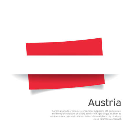 Austria flag in paper cut style. Creative background for the design of the patriotic holiday card of austria. National poster. Austrian state business booklet, cover. Vector design