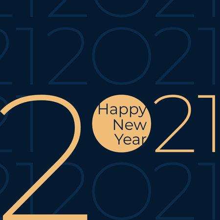 2021 Happy New Year. Stock Illustratie