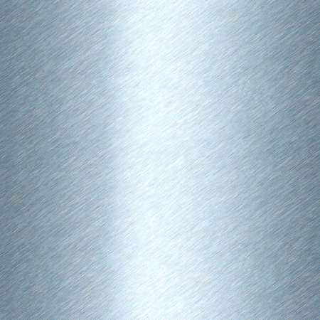 Shiny brushed metal background texture. Polished metallic steel plate. Sheet metal glossy shiny silver blue. Seamless texture Stockfoto