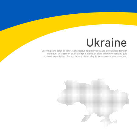 Abstract waving flag of ukraine. Creative background for patriotic holiday card design. National Poster. Cover, banner in state colors of ukraine. Vector flat design, template Illustration