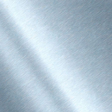 Shiny brushed metal background texture. Polished metallic steel plate. Sheet metal glossy shiny silver blue