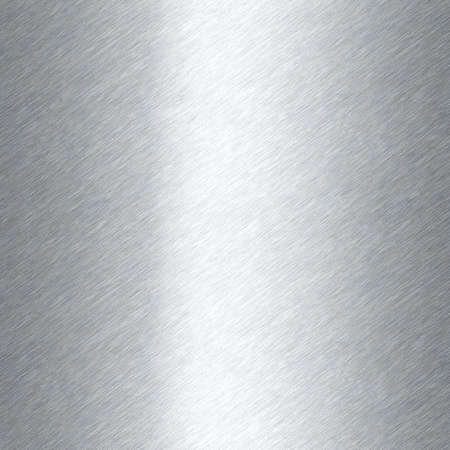 Shiny brushed metal background texture. Polished metallic steel plate. Sheet metal glossy shiny silver. Seamless texture