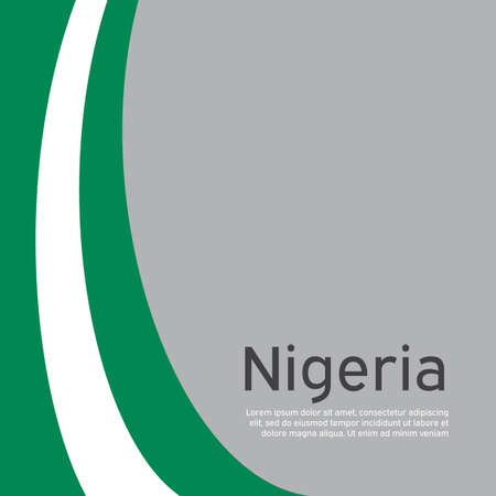 Abstract waving nigeria flag. Creative background in nigeria flag colors for holiday card design. National poster. State nigerian patriotic cover, business booklet, flyer. Vector flat design