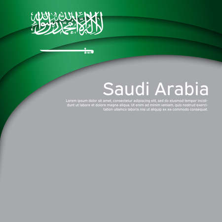 Abstract waving saudi arabia flag. Paper cut style. Creative background for the design of patriotic holiday cards. National poster. Cover, banner in national colors of saudi arabia. Vector illustration