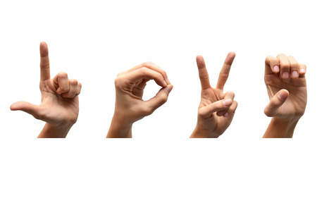 Love american sign language Stock Photo