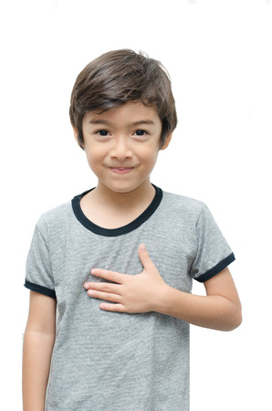 asl sign: Please kid hand sign language on white