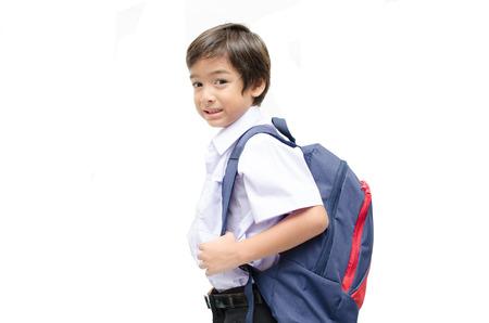 Little boy in uniform ready for school photo