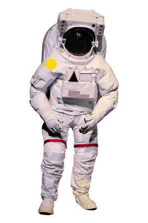 Astronaut pak op een witte achtergrond
