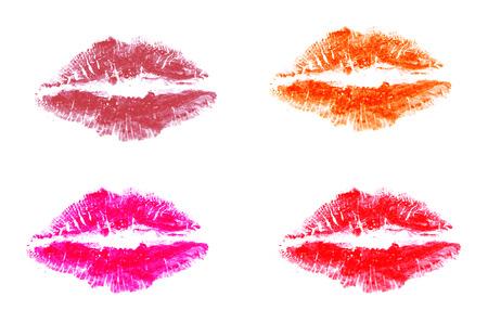lips smile: Lipstick color on white paper