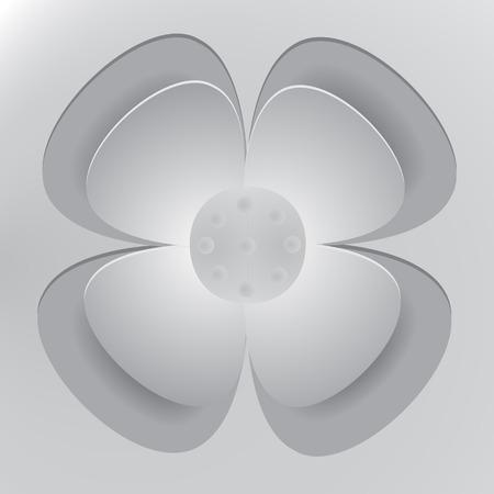 blending: Flower paper cut blending shadow Illustration