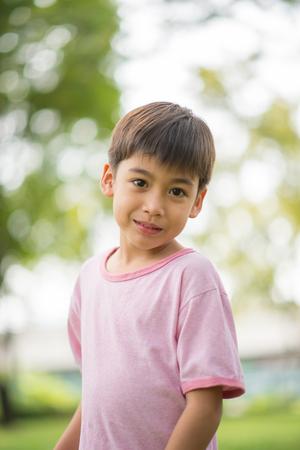 seven persons: Portrait little boy in the park