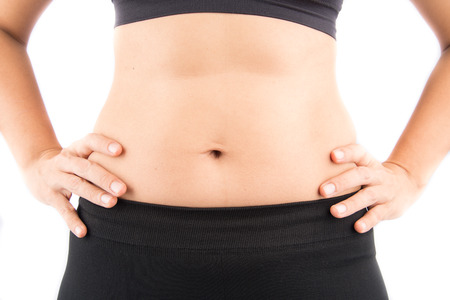 bod: Woman tummy mom body bod Stock Photo