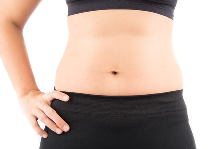 bod: Body of woman mother with fat around tummy
