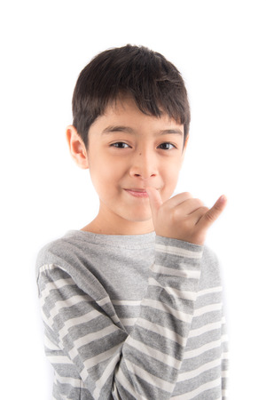 asl: SILLY ASL Sign language Stock Photo