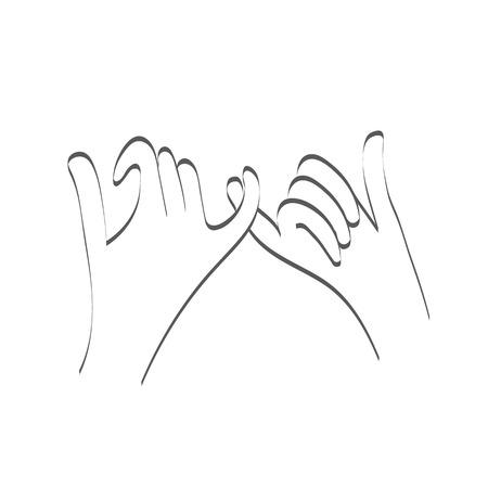 swear: Little pinky fingers promise relationship