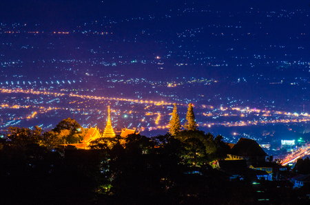 Wat Phra That Doi Suthep, Chiang Mai, Thailand temple 版權商用圖片