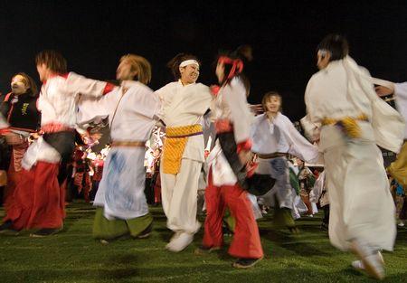 Kagoshima City, Japan, May 5, 2007. Dancers in costume performing in the Daihanya Festival held in Kagoshima City, Japan.