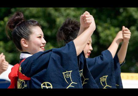 Kagoshima City, Japan, September 30, 2007 Young Japanese Daihanya dancers perform Stock Photo - 6890566