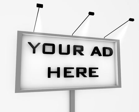 advertising text: billboard Stock Photo