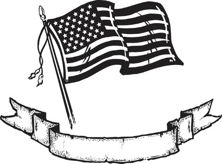 American Flag & Banner Illustration