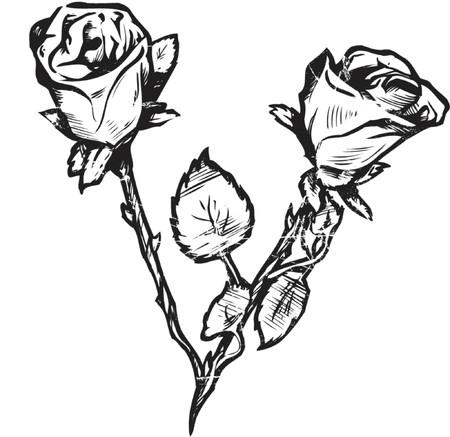Rose - grunge style Vector