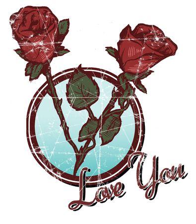 Retro Rose Illustration Stock Illustration - 588766