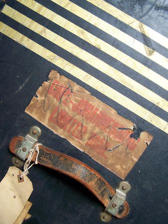 One of a series of images of abstract, rough and textured photographs of a vintage 1920's travel case. Stock Photo - 769989