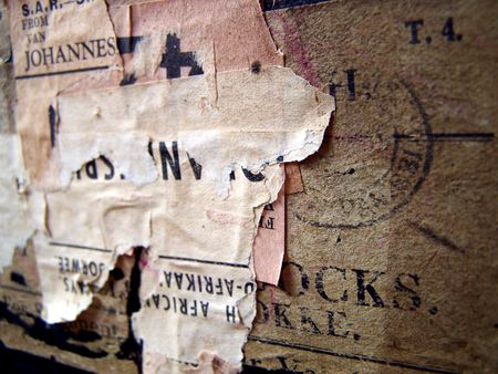 One of a series of images of abstract, rough and textured photographs of a vintage 1920's travel case. Stock Photo - 770008