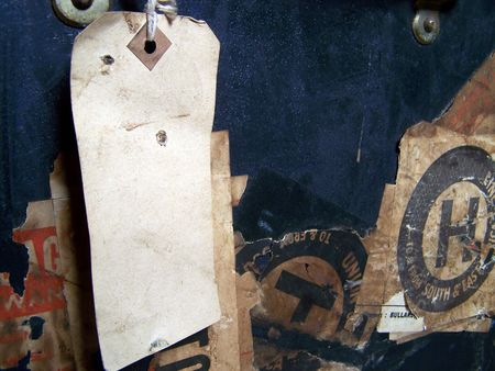 One of a series of images of abstract, rough and textured photographs of a vintage 1920's travel case. Stock Photo - 769883