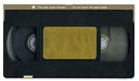 videocassette: Old video cassette tape front
