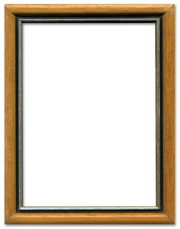 Brown And Silver Empty Picture Frame Border Design Stock Photo