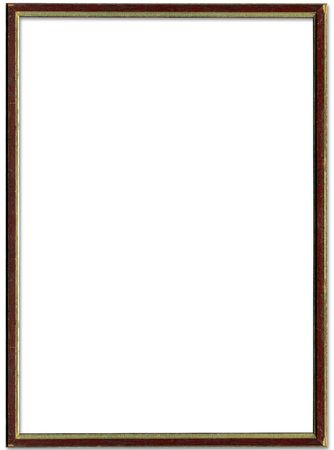Brown And Gold Empty Picture Frame Border Design Stock Photo