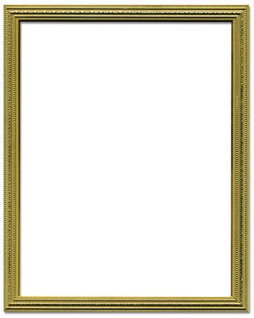 Decorative gold empty picture frame border design