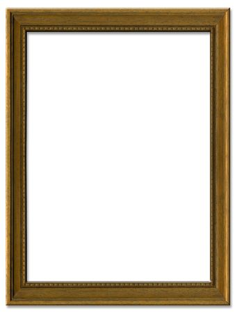 Simple brown empty picture frame border design Stock Photo