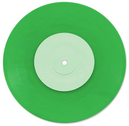 Green 7 inch Vinyl Single scanned in high resolution photo